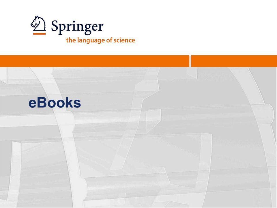 19 Las características clave para bibliotecarios Nuevos libros directamente a su disposición para su uso: Libros Springer nacen digitalmente Totalmente integrado en el catálogo de la biblioteca: Registros MARC21 Los derechos de emisión para su inclusión en paquetes de cursos, etc.