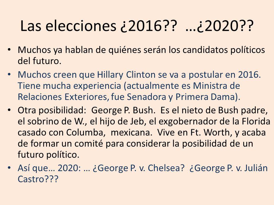 Las elecciones ¿2016?? …¿2020?? Muchos ya hablan de quiénes serán los candidatos políticos del futuro. Muchos creen que Hillary Clinton se va a postul