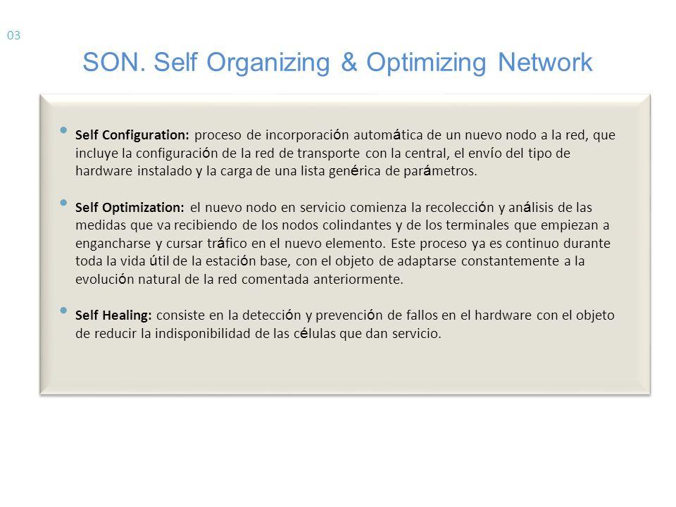 Ventajas SON Reducción de costes de operación – OPEX = Operational Expenditure Por reducción de costes de personal en la optimización manual de la red.