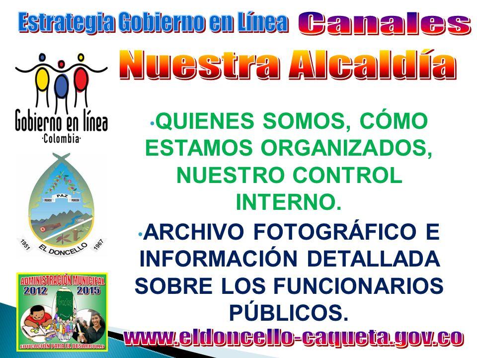 PUBLICACIONES EL MUNICIPIO: Archivos relacionados con la Administración y Entes descentralizados.