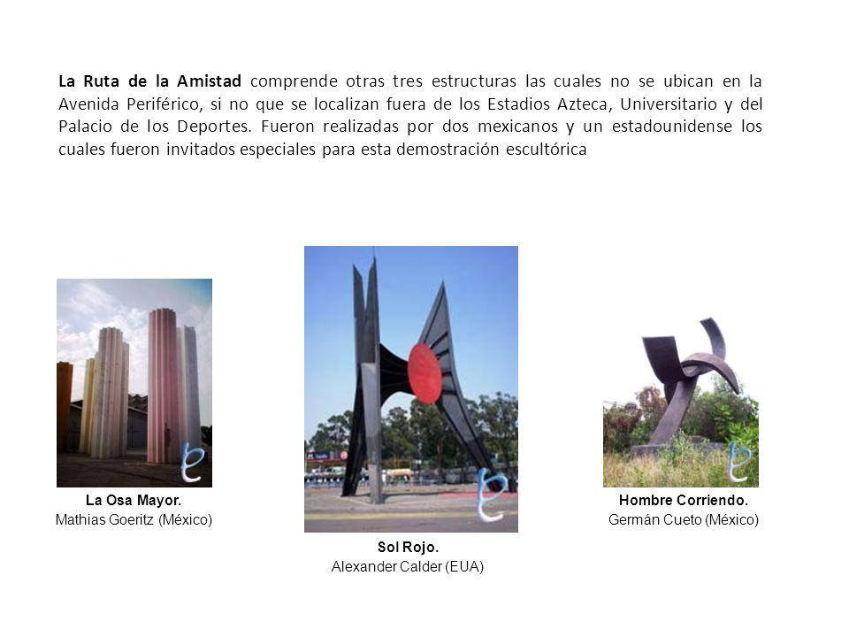 La Ruta de la Amistad comprende otras tres estructuras las cuales no se ubican en la Avenida Periférico, si no que se localizan fuera de los Estadios