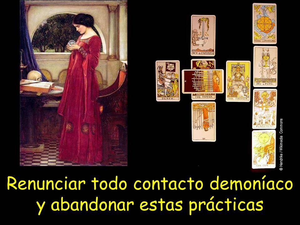 Renunciar todo contacto demoníaco y abandonar estas prácticas © Hendrike / Wikimedia Commons