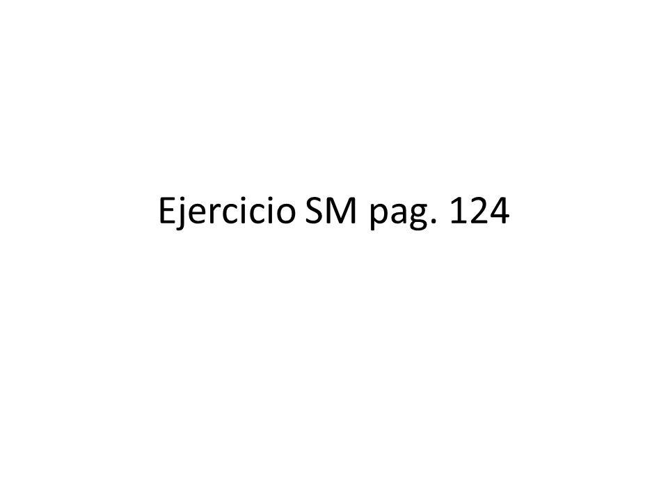 Ejercicio SM pag. 124