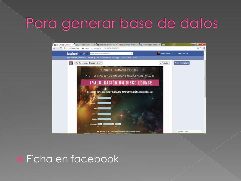 Ficha en facebook