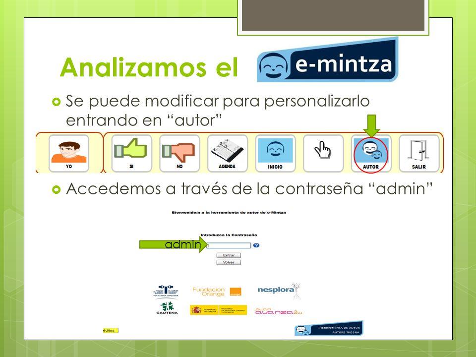 Analizamos el Se puede modificar para personalizarlo entrando en autor Accedemos a través de la contraseña admin admin
