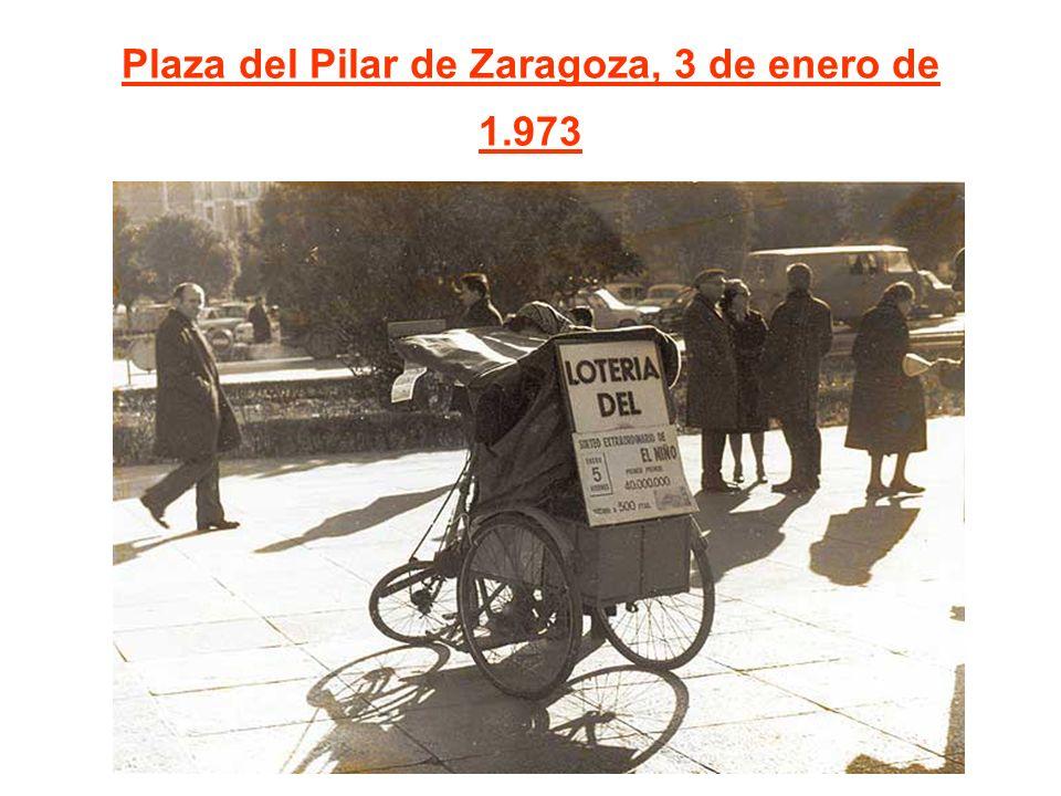 Plaza del Pilar de Zaragoza, 3 de enero de 1.973