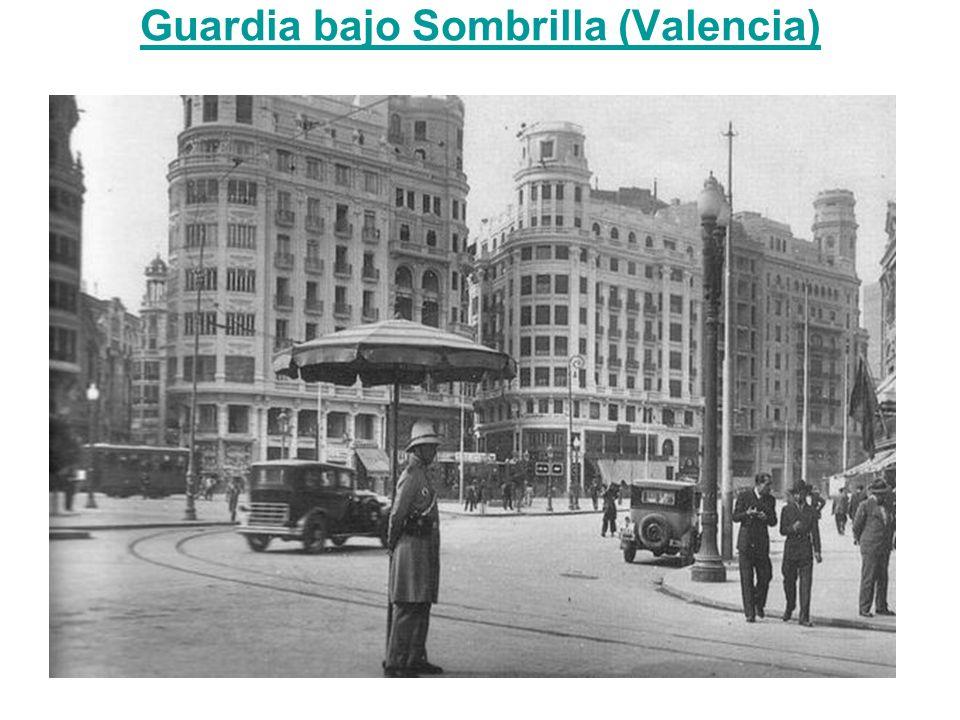 Guardia bajo Sombrilla (Valencia)