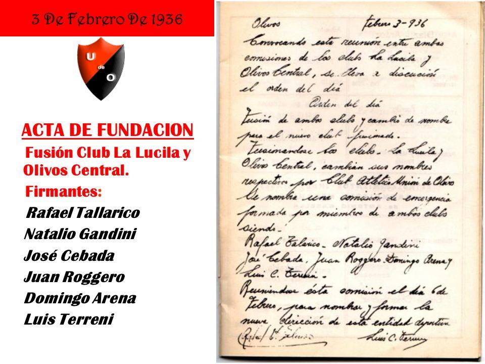 15 De Diciembre De 1940 Inauguración de la actual sede social D.F.