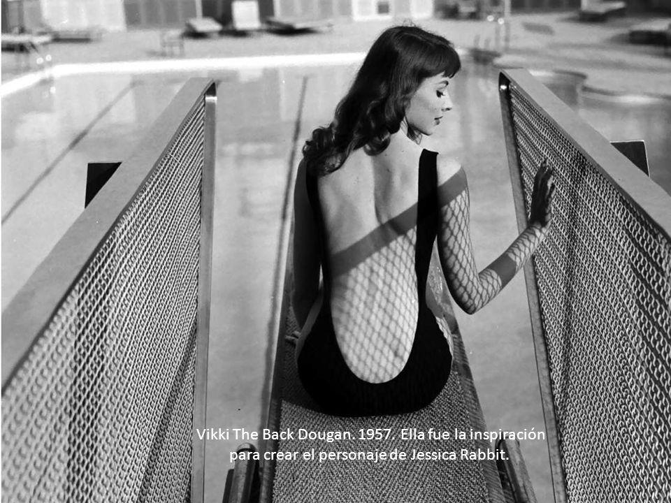 Vikki The Back Dougan. 1957. Ella fue la inspiración para crear el personaje de Jessica Rabbit.