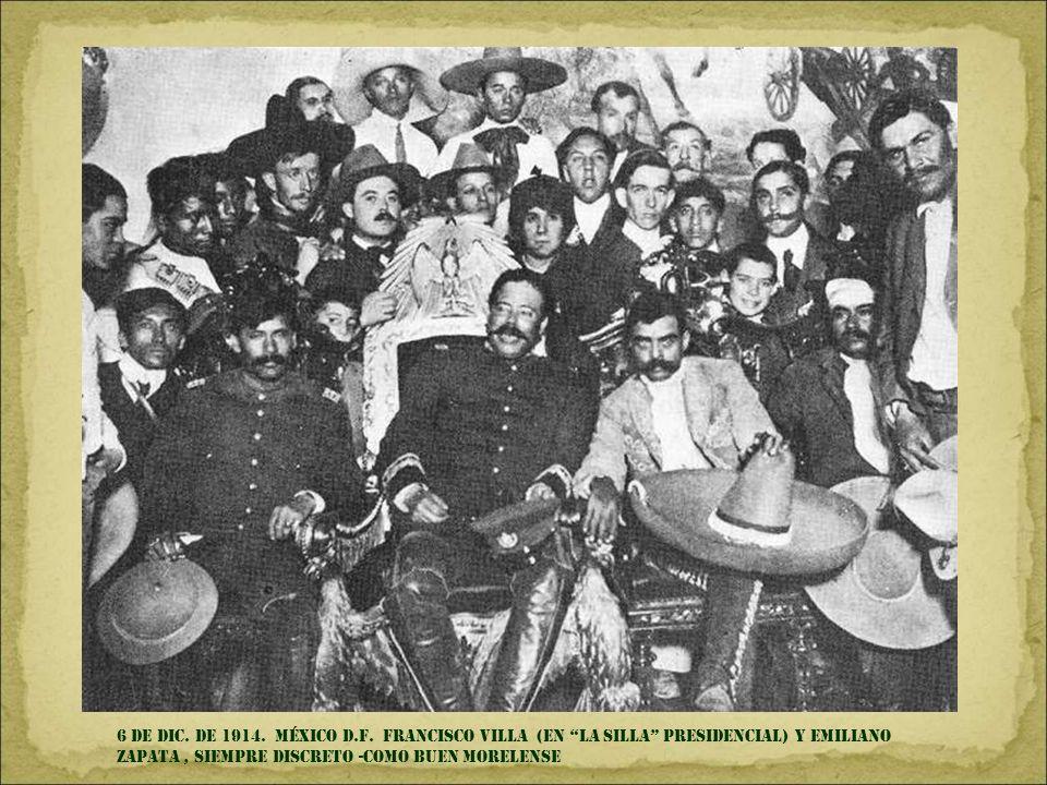6 de DIC.DE 1914. MÉXICO d.f.