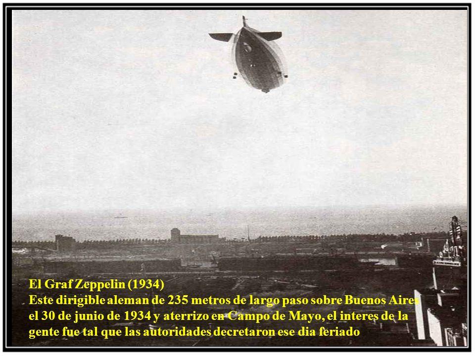El globo Pampero (1908) Se muestra el inflado del globo que necesitaba 1200 metros cubicos de gas.