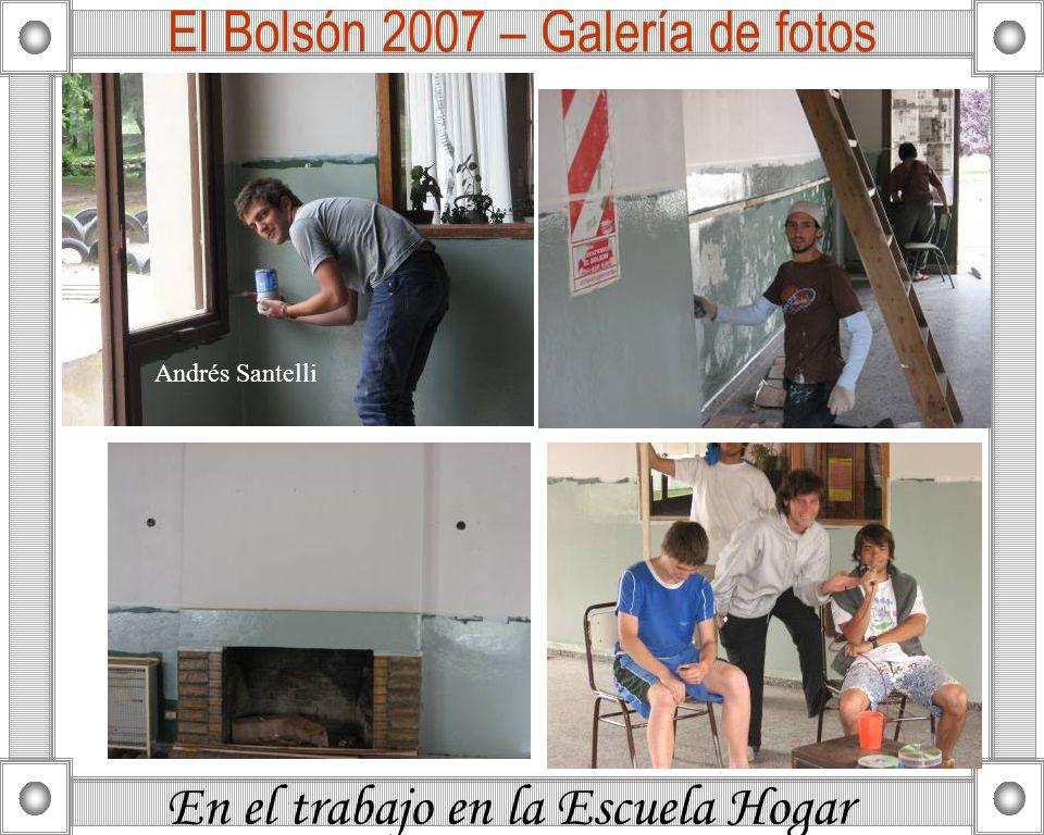 En el trabajo en la Escuela Hogar El Bolsón 2007 – Galería de fotos Andrés Santelli
