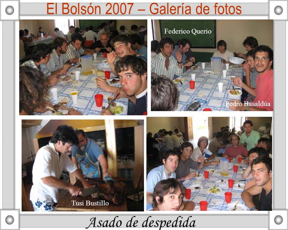 Asado de despedida El Bolsón 2007 – Galería de fotos Tusi Bustillo Pedro Basaldúa Federico Querio