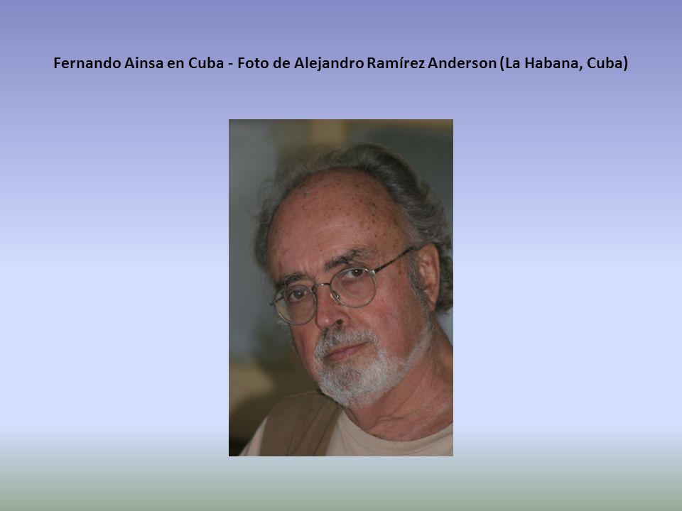 Fernando Ainsa en Cuba - Foto de Alejandro Ramírez Anderson (La Habana, Cuba)