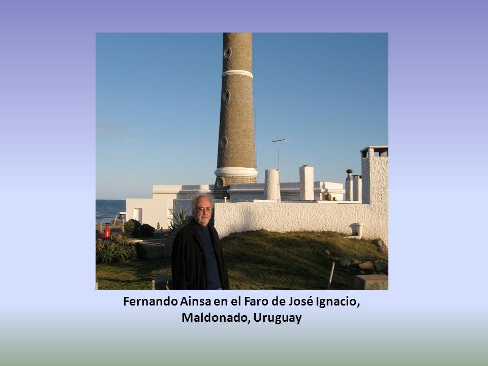 Fernando Ainsa en el Faro de José Ignacio, Maldonado, Uruguay