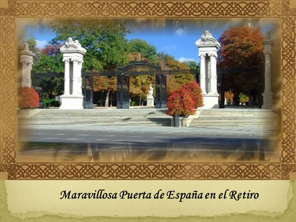 Mejores diseños los hay por todo Madrid, por ejemplo en el Retiro En el concurso de ideas para construir la nueva puerta del Rey ganó un diseño raro.
