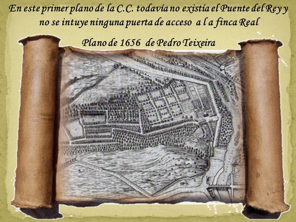 La puerta del Rey o del río fue creada por Juan de Villanueva a comienzos del siglo XIX (1810) por encargo de José Bonaparte Con el Proyecto Madrid Rí
