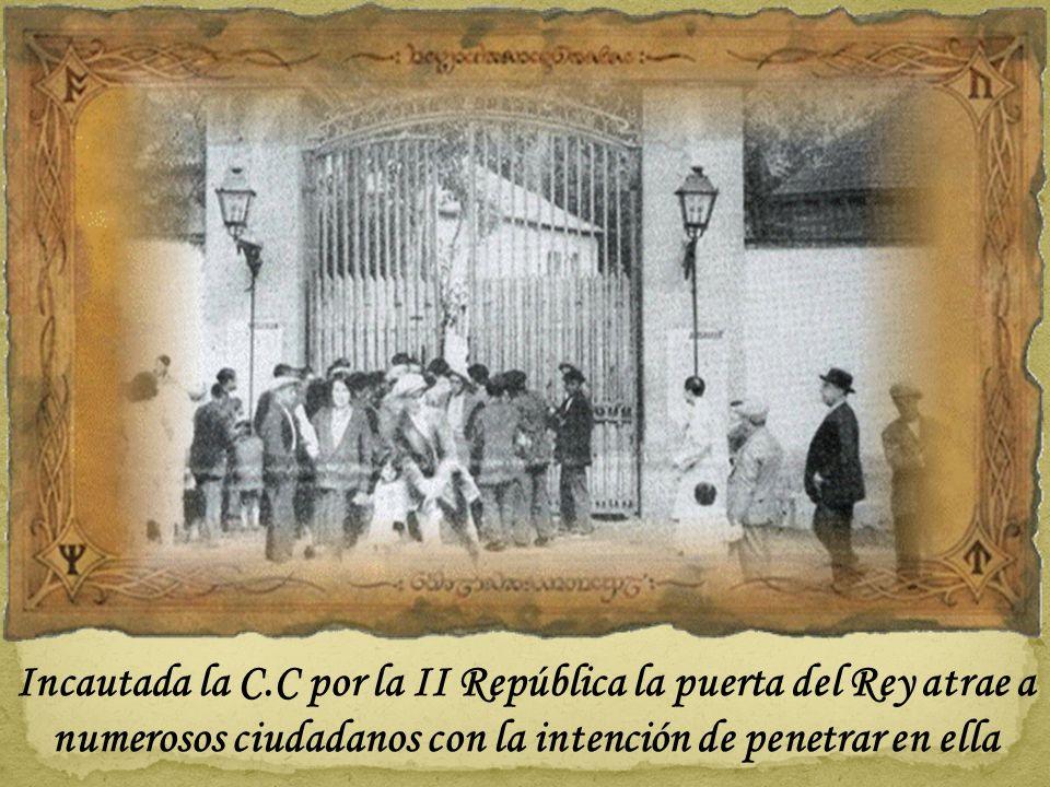 Otra foto de esa época de la puerta con rejas del Reservado