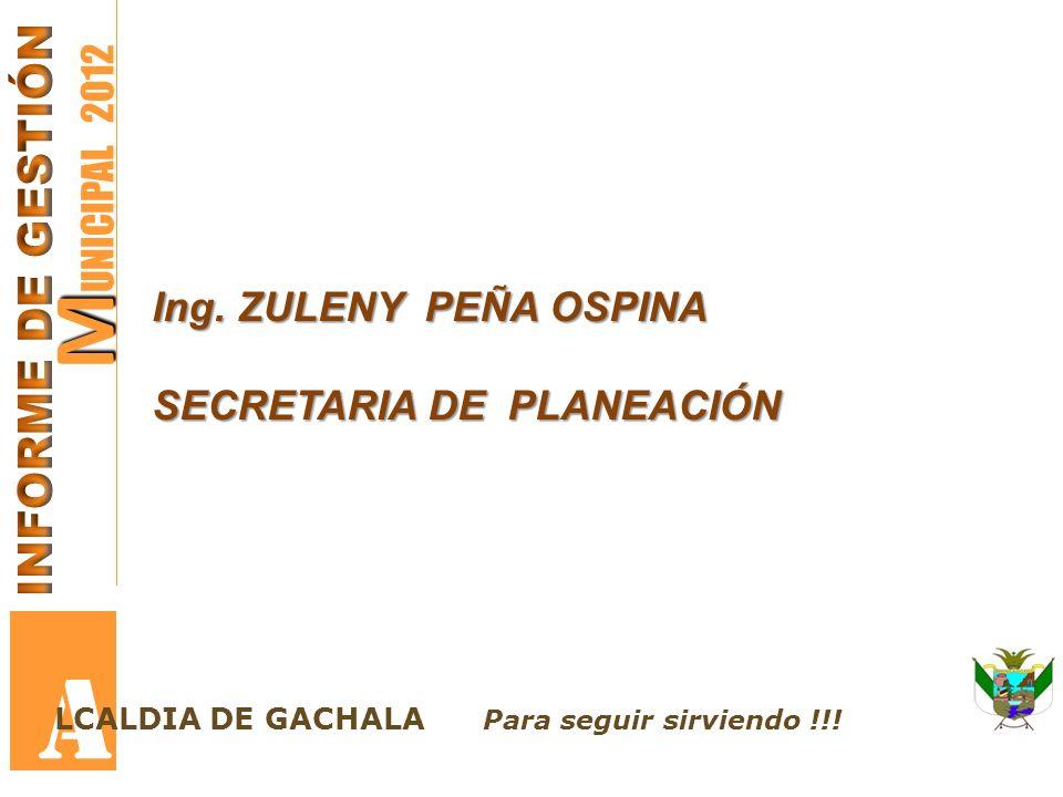 M M UNICIPAL 2012 A LCALDIA DE GACHALA Para seguir sirviendo !!.