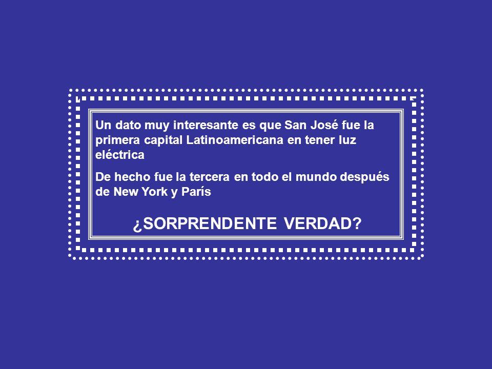 Calle josefina, San José - Año 1921- San José fue la primera capital Latinoamericana en tener luz eléctrica