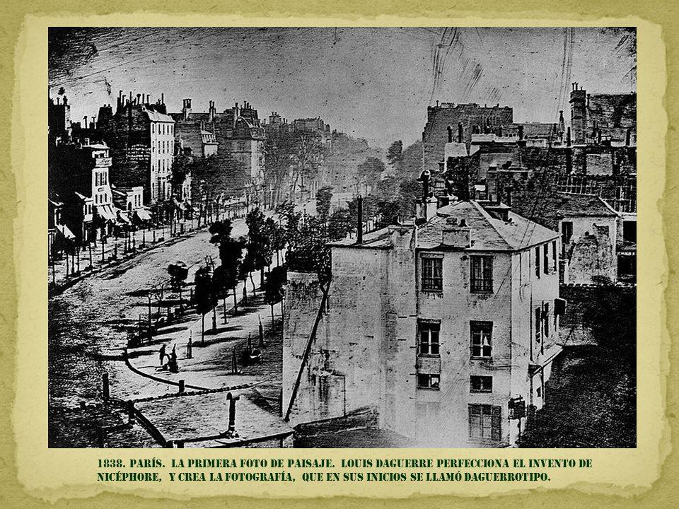 1838.parís. la primera foto de paisaje.
