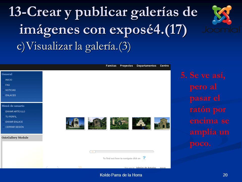 20Koldo Parra de la Horra 13-Crear y publicar galerías de imágenes con exposé4.(17) 5.Se ve así, pero al pasar el ratón por encima se amplía un poco.