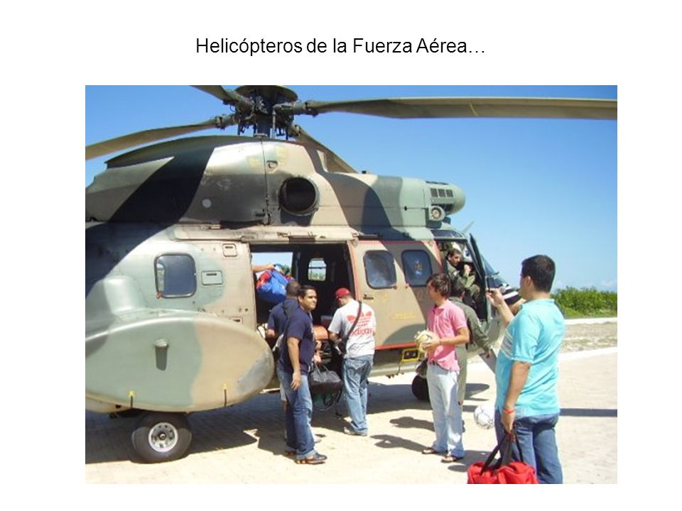 Helicópteros de la Fuerza Aérea…