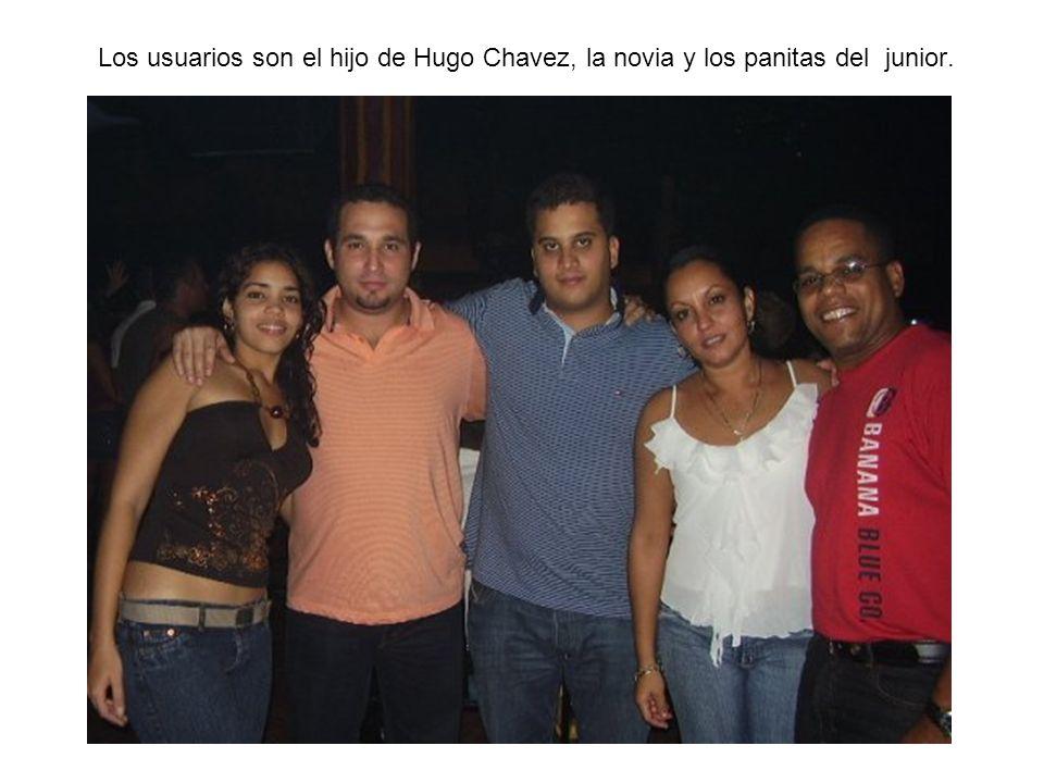Los usuarios son el hijo de Hugo Chavez, la novia y los panitas del junior.