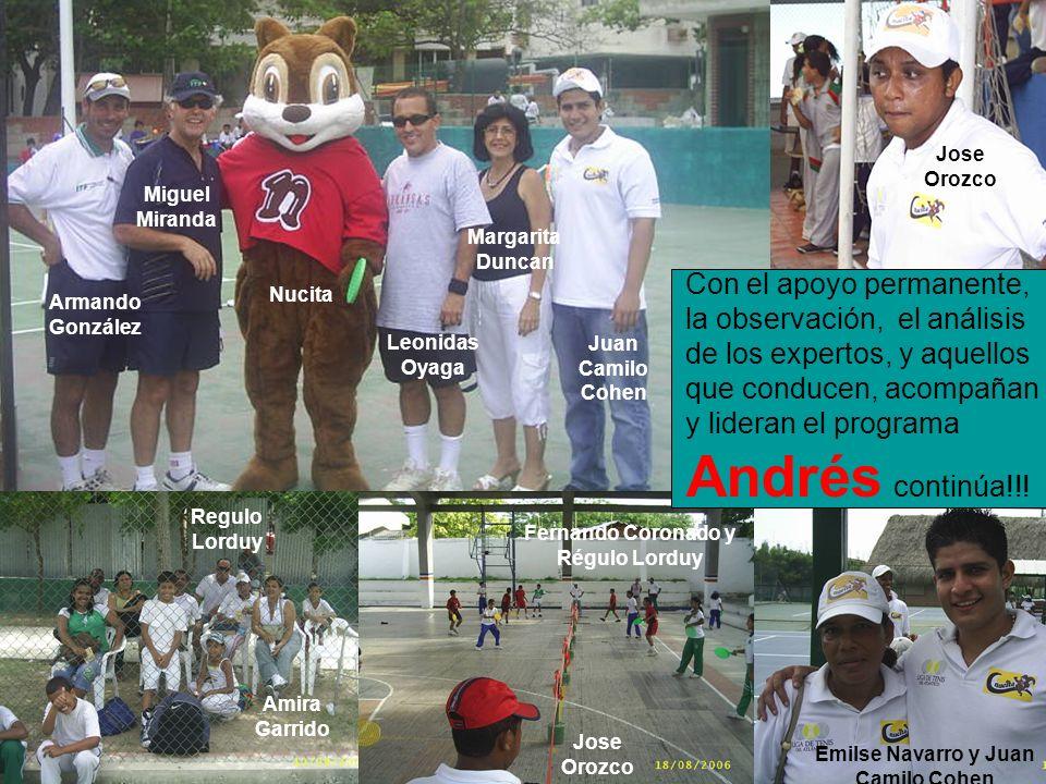 Con el apoyo permanente, la observación, el análisis de los expertos, y aquellos que conducen, acompañan y lideran el programa Andrés continúa!!! Migu