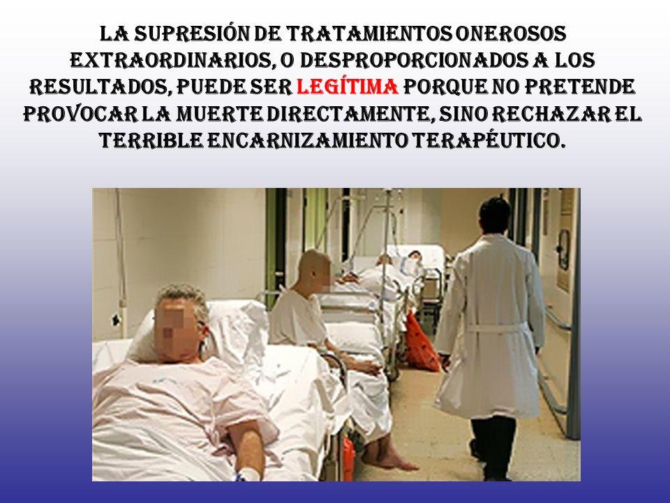C ualesquiera que sean los motivos y los medios, la EUTANASIA DIRECTA consiste en poner fin a la vida de las personas gravemente enfermas o moribundAs