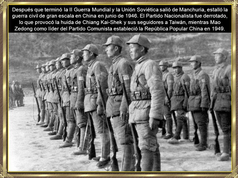 El Partido Comunista y el Partido Nacionalista chinos se disputaban el control de China desde 1927.