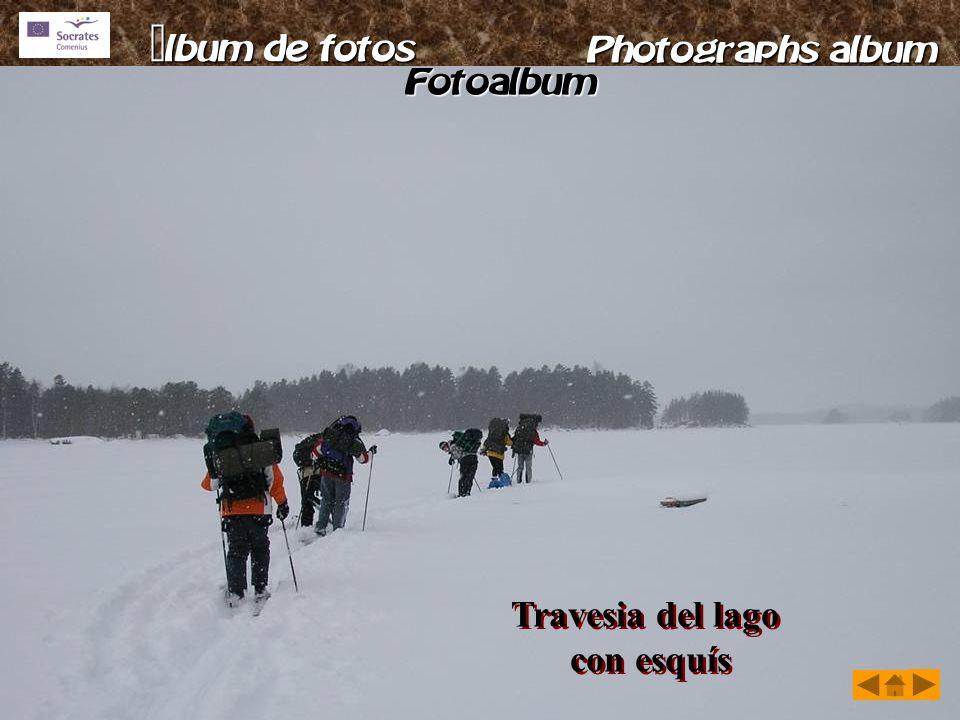 Travesia del lago con esquís Travesia del lago con esquís