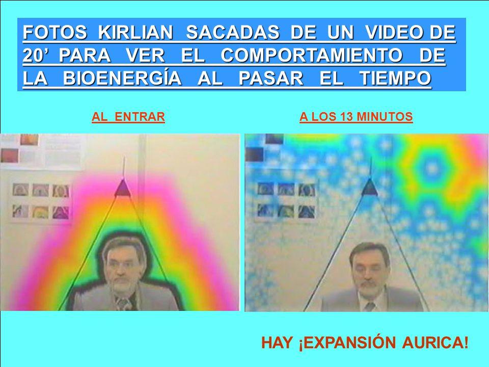 FOTOS KIRLIAN SACADAS DE UN VIDEO DE 20 PARA VER EL COMPORTAMIENTO DE LA BIOENERGÍA AL PASAR EL TIEMPO A LOS 13 MINUTOSAL ENTRAR HAY ¡EXPANSIÓN AURICA