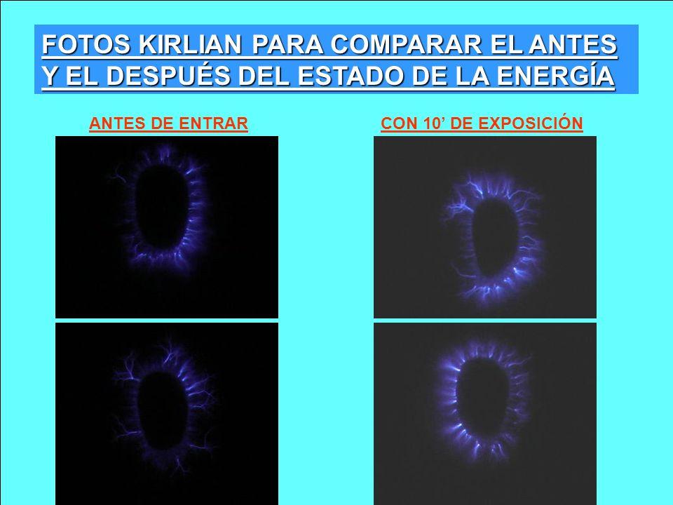 ANTES DE ENTRARCON 10 DE EXPOSICIÓN FOTOS KIRLIAN PARA COMPARAR EL ANTES Y EL DESPUÉS DEL ESTADO DE LA ENERGÍA