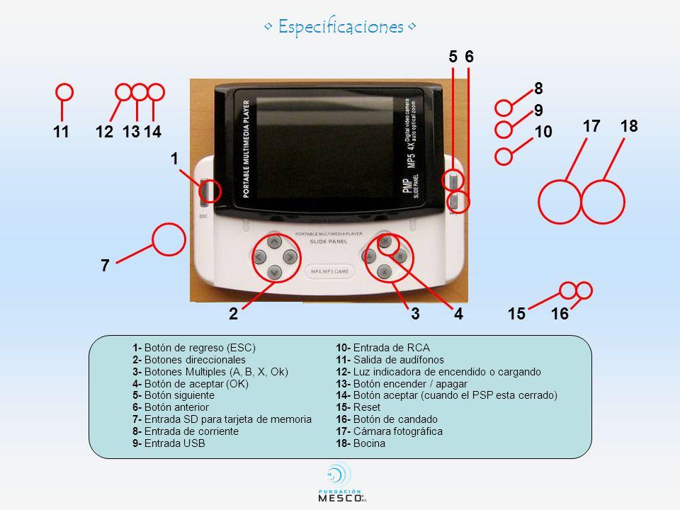 Como Cargar la Batería de la Consola PSP Slide Desempaque la consola PSP Slide.En el lado derecho hay 3 aberturas.