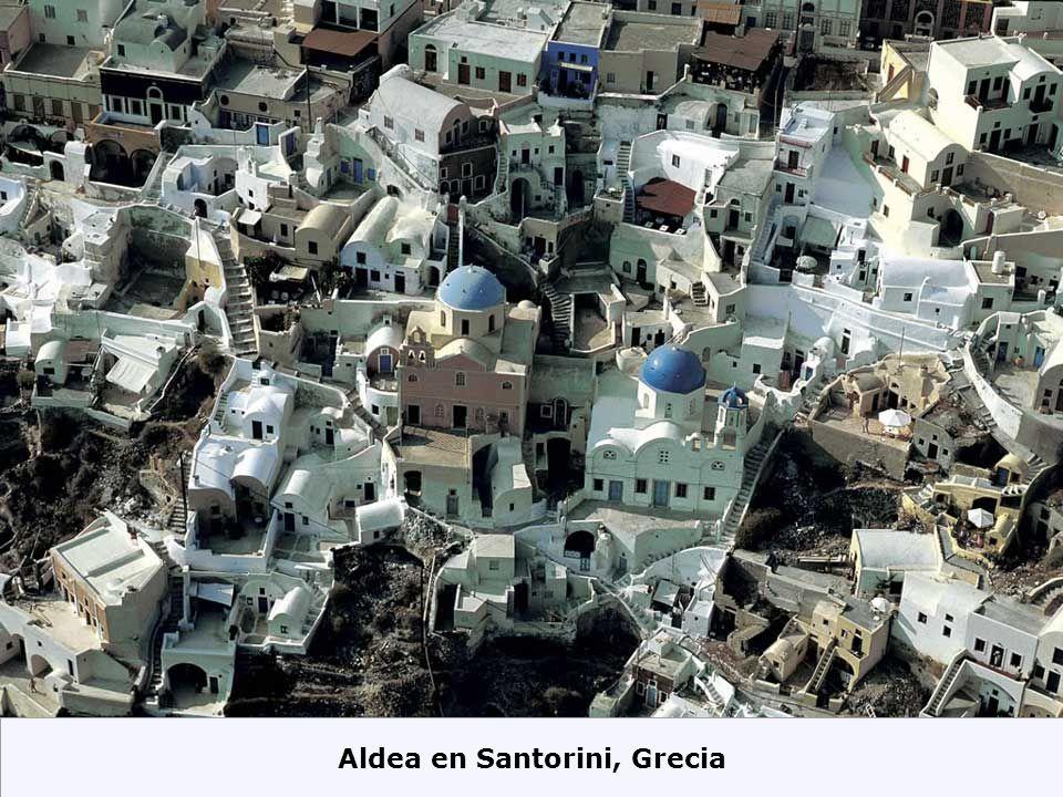 Aldea en Santorini, Grecia