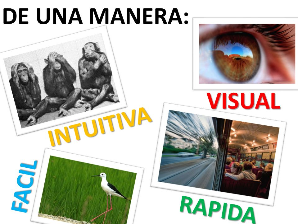 DE UNA MANERA: INTUITIVA VISUAL FACIL RAPIDA