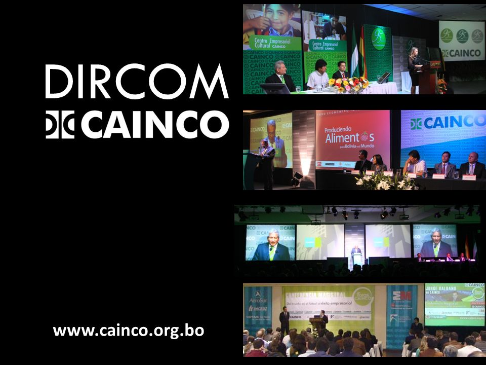 DIRCOM www.cainco.org.bo
