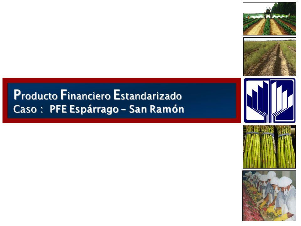 P roducto F inanciero E standarizado Caso : PFE Espárrago – San Ramón