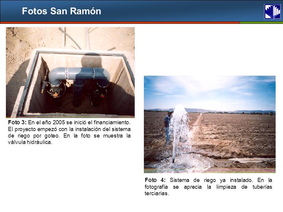 Fotos San Ramón Foto 3: En el año 2005 se inició el financiamiento.