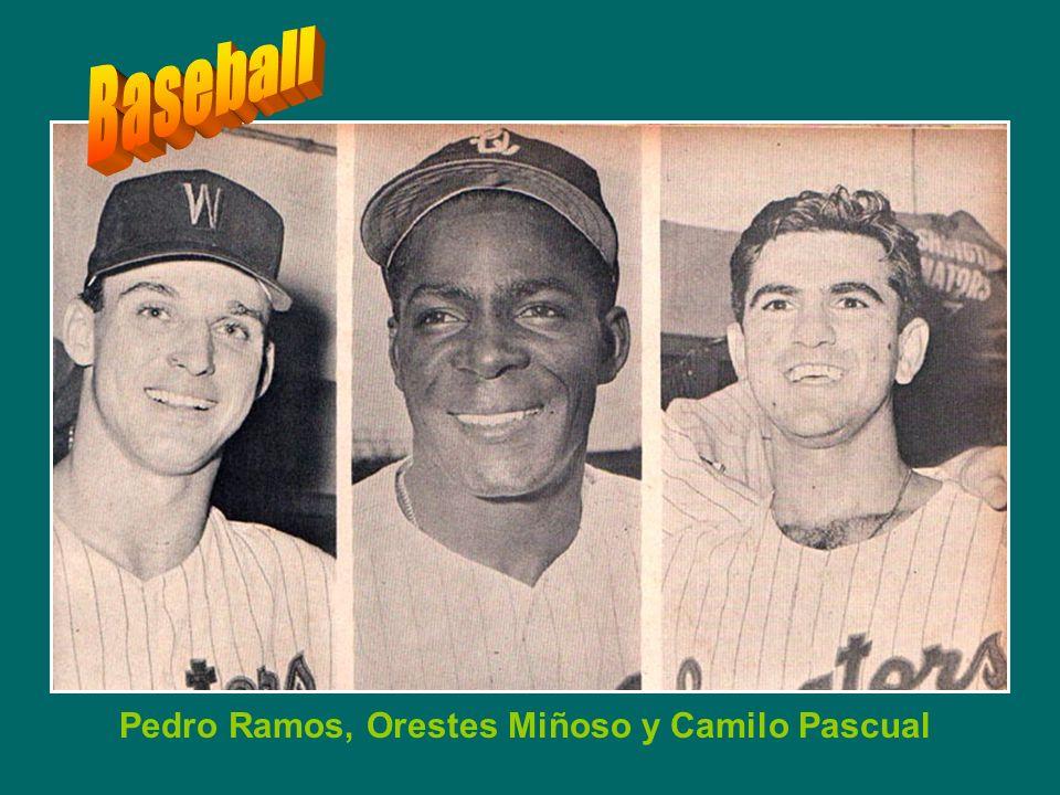 Conrado Marrero, Sandalio Consuegra, Roberto Ortiz, Limonar Martinez GLORIA CUBANA CON LOS SENADORES DEL WASHINGTON