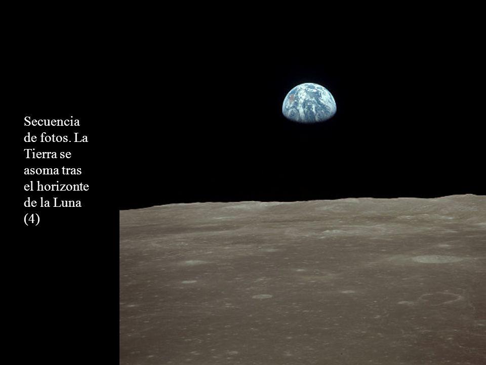 Secuencia de fotos. La Tierra se asoma tras el horizonte de la Luna (4)