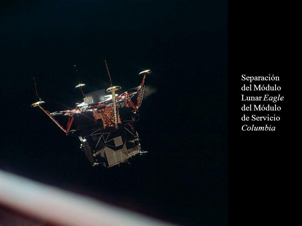 Separación del Módulo Lunar Eagle del Módulo de Servicio Columbia