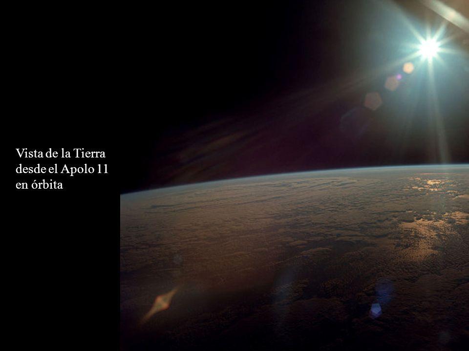 Vista desde el Módulo Lunar durante la aproximación al lugar de alunizaje