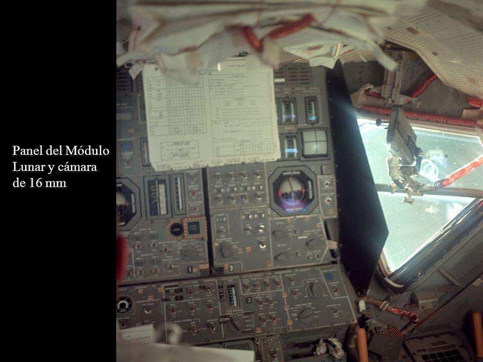 Panel del Módulo Lunar y cámara de 16 mm
