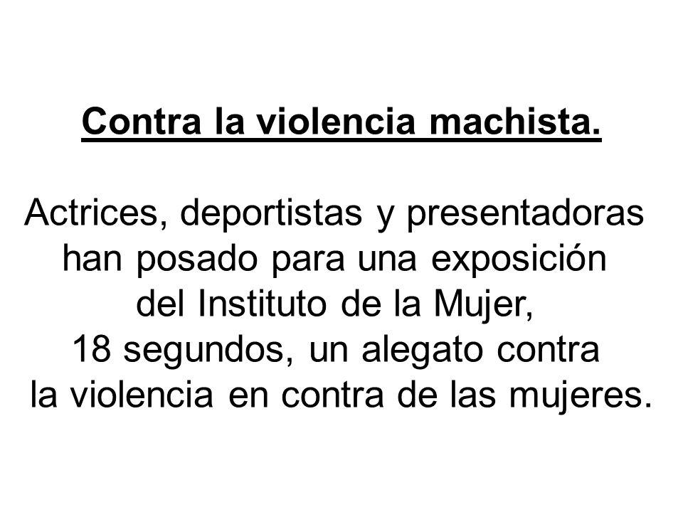 Contra la violencia machista.