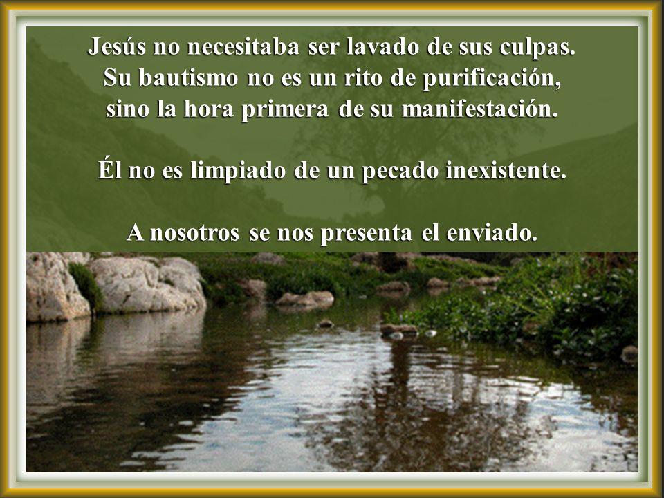 Jesús tiene conciencia de su misión, revelada Jesús tiene conciencia de su misión, revelada por la visión del Espíritu que desciende sobre Él por la visión del Espíritu que desciende sobre Él.