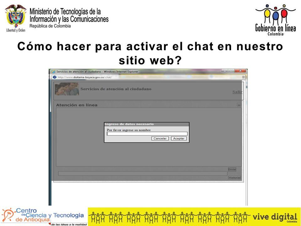 Cómo hacer para activar el chat en nuestro sitio web
