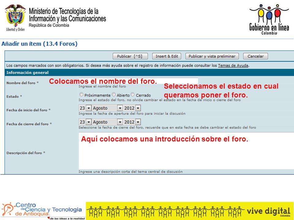 Ejemplo del proceso de recolección de información para una base de datos en red