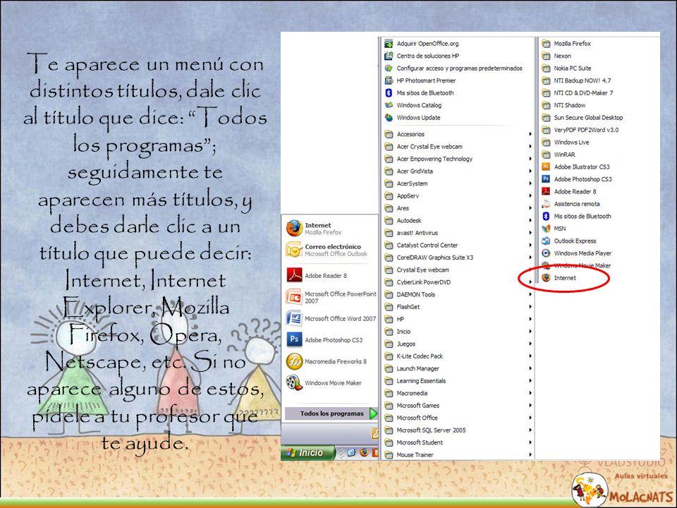 Cuando tengas el navegador abierto verás unos iconos básicos que te ayudarán a navegar por internet.
